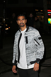 David Haye arrives at the Late Fabulous Fund Fair at the Roundhouse in London during the Autumn/Winter 2019 London Fashion Week. PRESS ASSOCIATION. Picture date: Monday February 18, 2019. Photo credit should read: Isabel Infantes/PA Wire