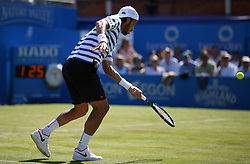 Spain's Feliciano Lopez during his match against Switzerland's Stan Wawrinka during day two of the 2017 AEGON Championships at The Queen's Club, London. PRESS ASSOCIATION Photo. Picture date: Tuesday June 20, 2017. See PA story TENNIS Queens. Photo credit should read: Steven Paston/PA Wire. RESTRICTIONS: Editorial use only, no commercial use without prior permission