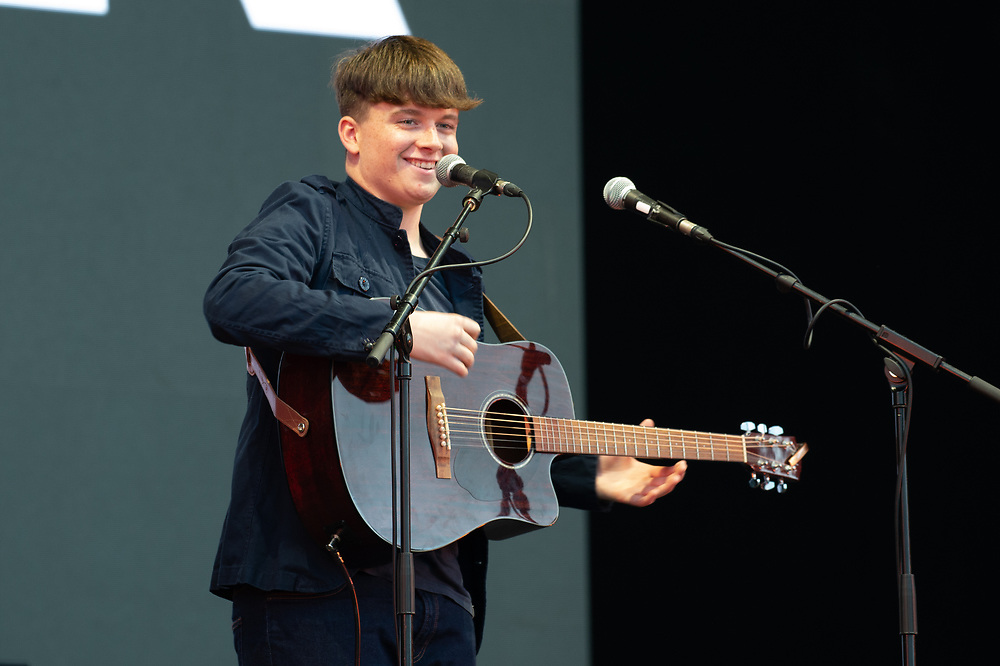 Young up and coming singer song writer Connor Fyfe makes a terrific start to the Playground Festival 2021