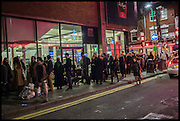 Queue to the Other art Fair. Truman Building, Brick Lane, London. London. 16 October 2014