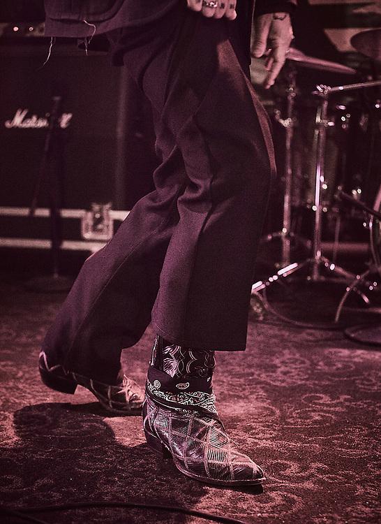 Desert Rock legend Brant Bjork photographed by Raymond Rudolph at Slims in San Francisco