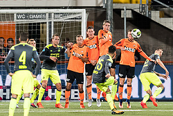 Adam Maher of PSV takes a free kick during the Second Round Dutch Cup match between FC Volendam and PSV Eindhoven at Kras stadium on October 26, 2017 in Volendam, The Netherlands