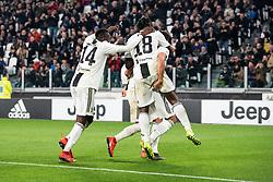 March 8, 2019 - Turin, Piedmont/Turin, Italy - Juventus celebrates during the Seria A Football Match: Juventus vs Udinese. Juventus won 4-1 at Allianz Stadium in Turin 8th march 2019 (Credit Image: © Alberto Gandolfo/Pacific Press via ZUMA Wire)