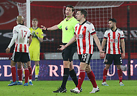 Sheffield United's Phil Jagielka leaves the field after seeing a red card from referee Robert Jones<br /> <br /> Photographer Alex Dodd/CameraSport<br /> <br /> The Premier League - Sheffield United v Aston Villa - Wednesday 3rd March 2021 - Bramall Lane - Sheffield<br /> <br /> World Copyright © 2021 CameraSport. All rights reserved. 43 Linden Ave. Countesthorpe. Leicester. England. LE8 5PG - Tel: +44 (0) 116 277 4147 - admin@camerasport.com - www.camerasport.com