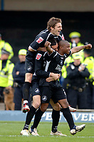 Photo: Glyn Thomas.<br />Chesterfield v Swansea City. Coca Cola League 1. 06/05/2006.<br />Swansea's Leon Knight celebrates scoring his side's third goal.