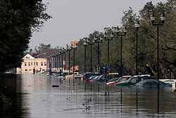 05 Sept  2005. New Orleans, Louisiana. Post hurricane Katrina.<br /> A trip to uptown New Orleans along Napolean Ave. Reflections of a city that used to be. Devastating floods in Uptown New Orleans.<br /> Photo; ©Charlie Varley/varleypix.com