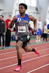 Elijah Young, Monroe, 400m wins<br /> BU Terrier Indoor track meet