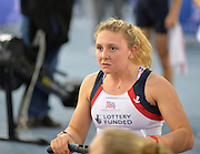 London. United Kingdom. Jessica LEYDEN competing in the Mixed Relay.<br /> <br /> 2015 British Rowing Indoor Championships. {BRIC}.<br /> Lee Valley Velodrome. former 2012 Olympic Cycling<br /> Velodrome.  Sunday.  08.02.2015. <br /> <br /> [Mandatory Credit; Peter SPURRIER/Intersport Images]