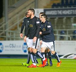 Falkirk's Lee Miller cele scoring their fourth goal. Falkirk 4 v 1 Fraserburgh, Scottish Cup third round, played 28/11/2015 at The Falkirk Stadium.