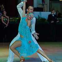 Pavel Cherdantsau and Svetlana Rudkovskaya from Belorussia dancing for the USA perform their dance during the Professional Rising Stars Latin competition of the Blackpool Dance Festival held in Blackpool, United Kingdom on May 27, 2011. ATTILA VOLGYI