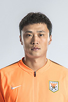 **EXCLUSIVE**Portrait of Chinese soccer player Liu Zhenli of Shandong Luneng Taishan F.C. for the 2018 Chinese Football Association Super League, in Ji'nan city, east China's Shandong province, 24 February 2018.