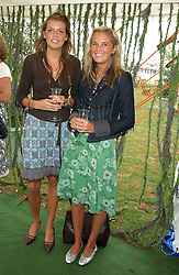 Left to right, ELEANOR CHAPMAN and VICTORIA VON WESTENHOLZ at the 2005 Cartier International Polo between England & Australia held at Guards Polo Club, Smith's Lawn, Windsor Great Park, Berkshire on 24th July 2005.<br /><br />NON EXCLUSIVE - WORLD RIGHTS