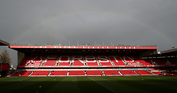 A rainbow appears over Nottingham Forest's City Ground ahead of the Sky Bet Championship match against Stoke City.