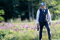 September 3, 2018 - Norton, MA, U.S. - NORTON, MA - SEPTEMBER 03: NBC Golf's analyst David Feherty on the 18th during the Final Round of the Dell Technologies Championship on September 3, 2018, at TPC Boston in Norton, Massachusetts. (Photo by Fred Kfoury III/Icon Sportswire) (Credit Image: © Fred Kfoury Iii/Icon SMI via ZUMA Press)