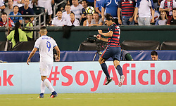 July 19, 2017 - Philadelphia, PA, USA - Philadelphia, PA - Wednesday July 19, 2017: Omar Gonzalez during a 2017 Gold Cup match between the men's national teams of the United States (USA) and El Salvador (SLV) at Lincoln Financial Field. (Credit Image: © John Dorton/ISIPhotos via ZUMA Wire)