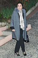 Paloma Segrelles attends Princess PIlar Borbon funeral chapel  installed in the Gomez-Acebo house on January 8, 2020 in Madrid, Spain