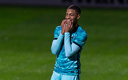 LONDON, ENGLAND - Friday, October 30, 2020: Liverpool's Elijah Dixon-Bonner during the Premier League 2 Division 1 match between Arsenal FC Under-23's and Liverpool FC Under-23's at Meadow Park. Liverpool won 1-0. (Pic by David Rawcliffe/Propaganda)