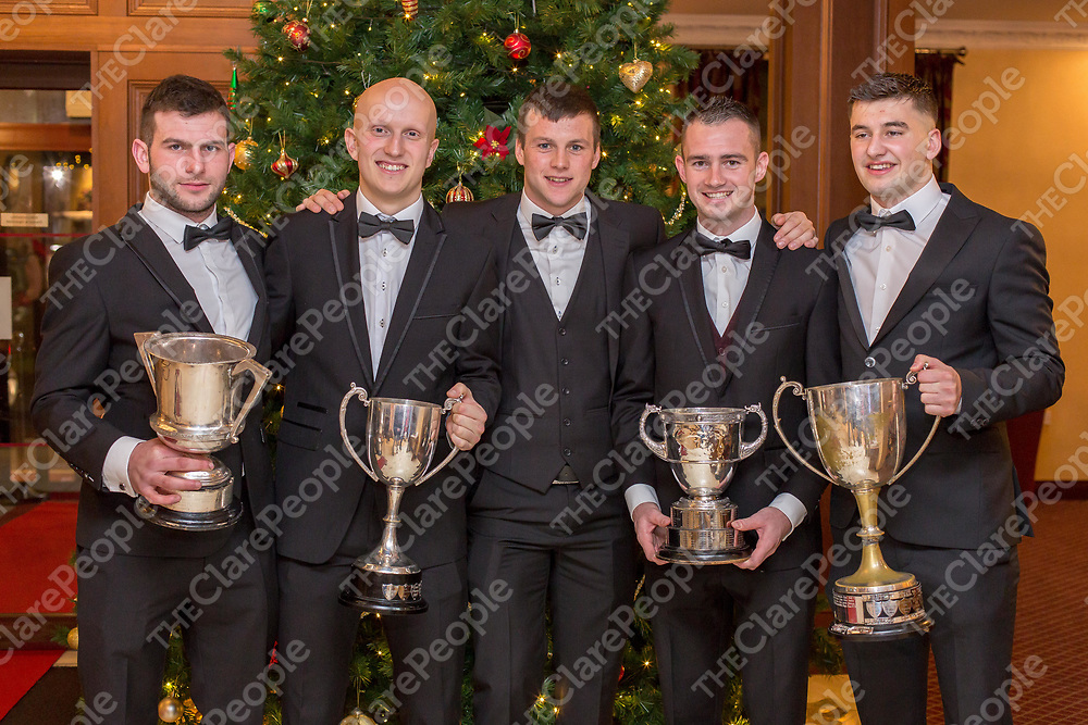 Ballyea Hurlers and Kilmihill Footballers Pat Joe Connolly, Martin O'Leary, Jack Browne, Stan Lineen and David Egan