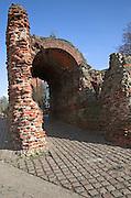 Roman Balkerne Gate entrance to Colchester, Essex, England