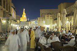 Souq Waqif at night in Doha Qatar