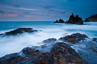 The Wild coast, in a windy day, in Benijo, Anaga Peninsula, North-east Tenerife. Tenerife  Island, Canary Islands, Spain.