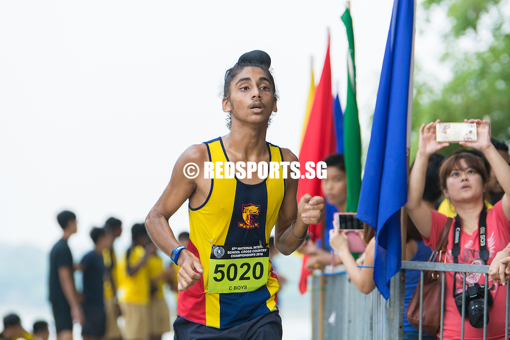 Harpreet Singh of ACSI clocked in a timing of  13:26.71 for the 3.65 kilometre route to place third in the C Division Boys Category at the 57th National Schools Cross Country Championships. (Photo © Jerald Ang/Red Sports)