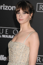 December 10, 2016 - Los Angeles, California, United States - December 10th 2016 - Los Angeles California USA -Actress FELILos Angeles JONES at the World Premiere for ''Rogue One Star Wars'' held at the Pantages Theater, Hollywood, Los Angeles  CA (Credit Image: © Paul Fenton via ZUMA Wire)