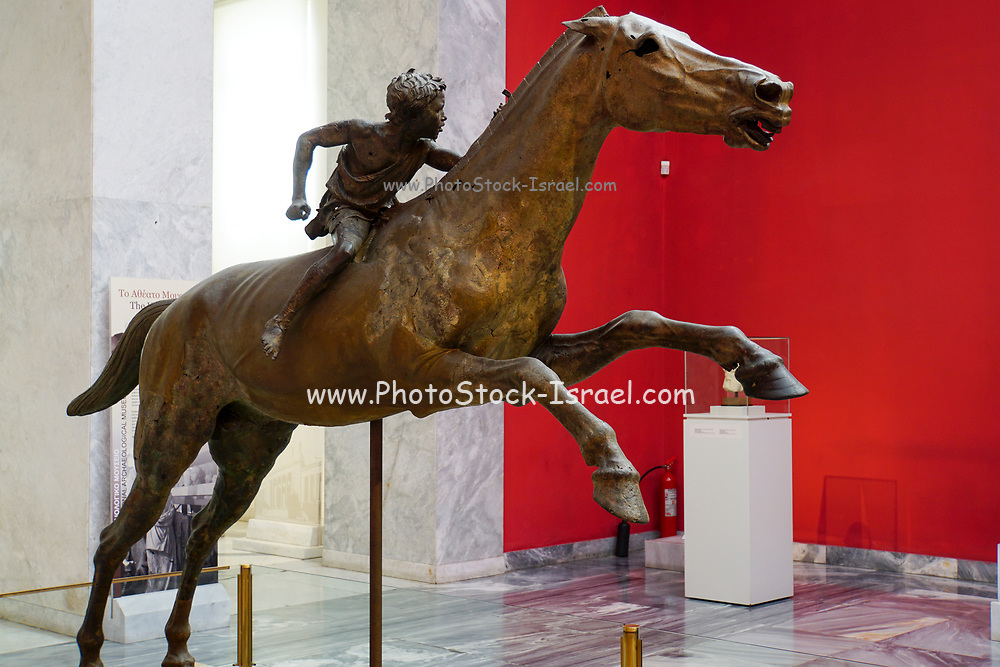 Greece, Athens, National Archaeology Museum. The Jockey of Artemision