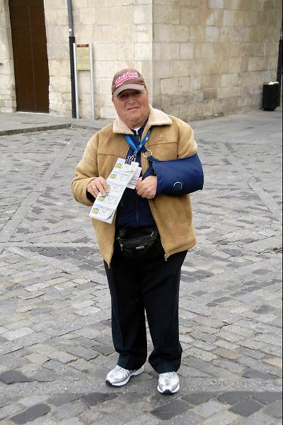 Spanje, Burgos, 5-5-2010Een lotenverkoper en zijn loten.De verkoop van Spaanse staatsloten wordt gedaan door mensen met een beperking, handicap,gehandicapten.Foto: Flip Franssen/Hollandse Hoogte