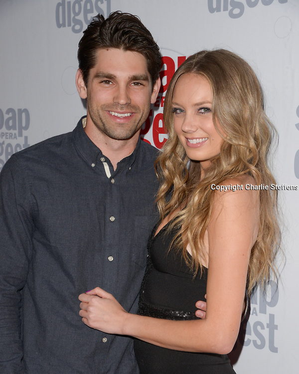 JUSTIN GASTON (L) and MELISSA ORDWAY at Soap Opera Digest's 40th Anniversary party at The Argyle Hollywood in Los Angeles, California