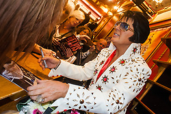 Rob Kingsley Elvis Preslet Tribute Artist A Vision of Elvis On Tour Bristol Hippodrome<br /> <br /> 07 April 2014<br /> <br /> Image © Paul David Drabble <br /> <br /> www.pauldaviddrabble.co.uk