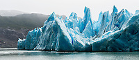 The fragmented peaks of Glacier Grey in Torres del Paine National Park, Chile