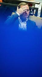 13.10.2013, Multiversum, Schwechat, AUT, Tischtennis Europameisterschaft 2013, Finale Einzel Herren, im Bild OeVP Klubobmann Karlheinz Kopf // Leader of the parliamentary group OeVP Karlheinz Kopf during Men Single Final of the table tennis european championship 2013 at Multiversum in Vienna, Austria on 2013/10/13. EXPA Pictures © 2013 PhotoCredit: EXPA/ Michael Gruber