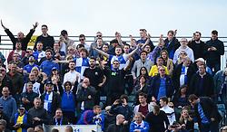 Bristol rovers fans sing.  - Mandatory by-line: Alex James/JMP - 14/04/2017 - FOOTBALL - MEMS Priestfield Stadium - Gillingham, England - Gillingham v Bristol Rovers - Sky Bet League One