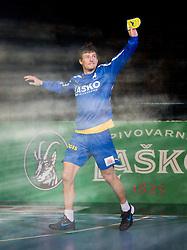 Nikola Ranevski of Celje during handball match between RK Celje Pivovarna Lasko and IK Savehof (SWE) in 3rd Round of Group B of EHF Champions League 2012/13 on October 13, 2012 in Arena Zlatorog, Celje, Slovenia. (Photo By Vid Ponikvar / Sportida)