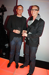 Left to right, designer GILES DEACON and STUART VEVERS Design Director of Mulberry at a party to celebrate the launch of a range of leather accessories designed by Giles Deacon for Mulberry held at Harvey Nichols, Knightsbridge, London on 30th October 2007.<br /><br />NON EXCLUSIVE - WORLD RIGHTS