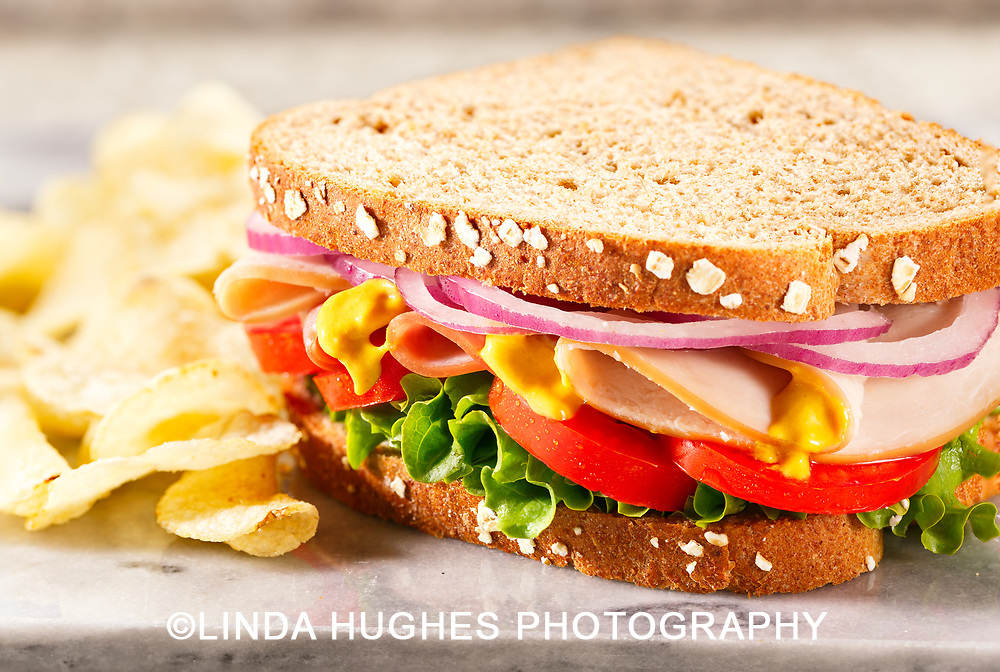 Styled Deli Sandwich with Chips