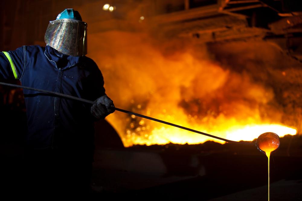 Volta Redonda_RJ, Brasil...CSN (Companhia Siderurgica Nacional) em Volta Redonda, Rio de Janeiro...CSN (National Steel Company) in Prada de Santo Amaro, Sao Paulo...Foto: JOAO MARCOS ROSA / NITRO