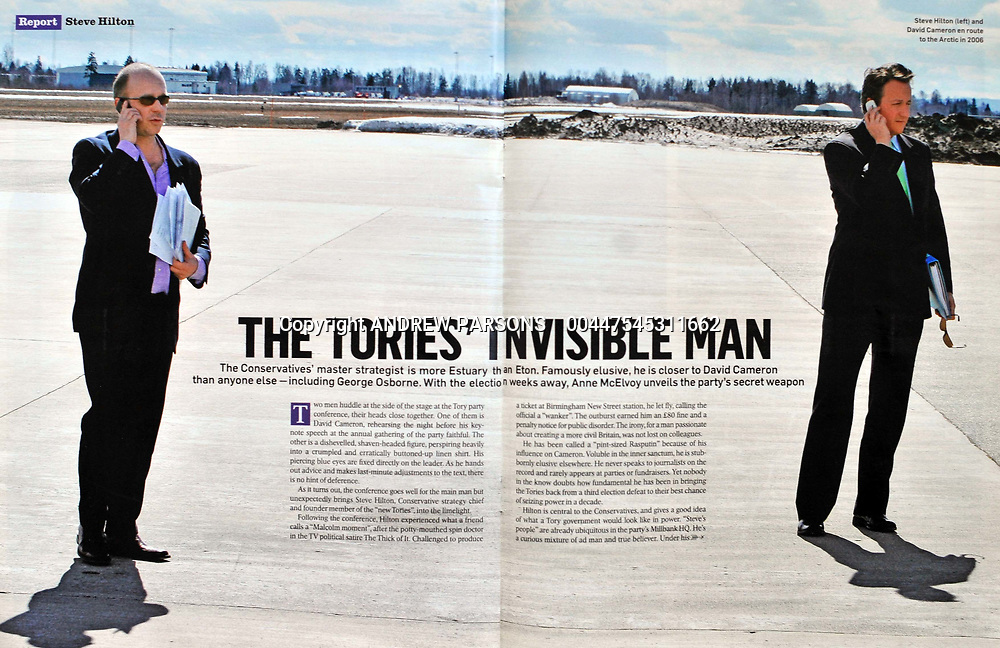 Double page spread in the Sunday Times Magazine