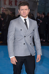 """Taron Egerton attends the European premiere for """"Eddie the Eagle at Odeon Leicester Square in London, 17.03.2016. EXPA Pictures © 2016, PhotoCredit: EXPA/ Photoshot/ Euan Cherry<br /> <br /> *****ATTENTION - for AUT, SLO, CRO, SRB, BIH, MAZ, SUI only*****"""