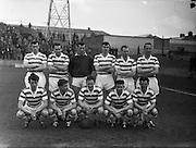 15/04/1962<br /> 04/15/1962<br /> 15 April 1962<br /> Soccer: Shamrock Rovers v Waterford, F.A.I. Cup Semi - Final at Dalymount Park, Dublin. The Shamrock Rovers team.
