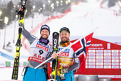 February 9, 2019 - Re, SWEDEN - 190209 Akesel Lund Svindal and Kjetil Jansrud of Norway celebrates after finishing second and first in men's downhill during the FIS Alpine World Ski Championships on February 9, 2019 in re..Photo: Joel Marklund / BILDBYRN / kod JM / 87853 (Credit Image: © Joel Marklund/Bildbyran via ZUMA Press)
