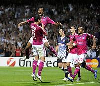 FOOTBALL - UEFA CHAMPIONS LEAGUE 2011/2012 - GROUP STAGE - GROUP D - OLYMPIQUE LYONNAIS v DINAMO ZAGREB - 27/09/2011 - PHOTO JEAN MARIE HERVIO / DPPI - JOY BAKARY KONE (OL) AFTER HIS GOAL