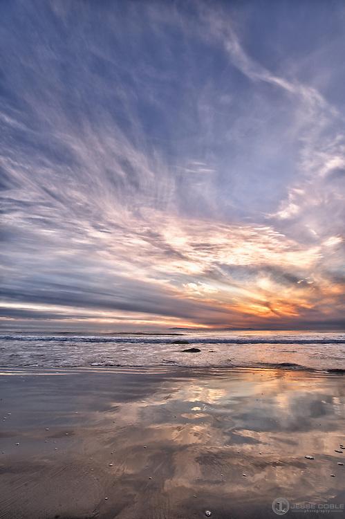 Digital Composite of Emma Wood State Beach (near Ventura CA) at sunset.