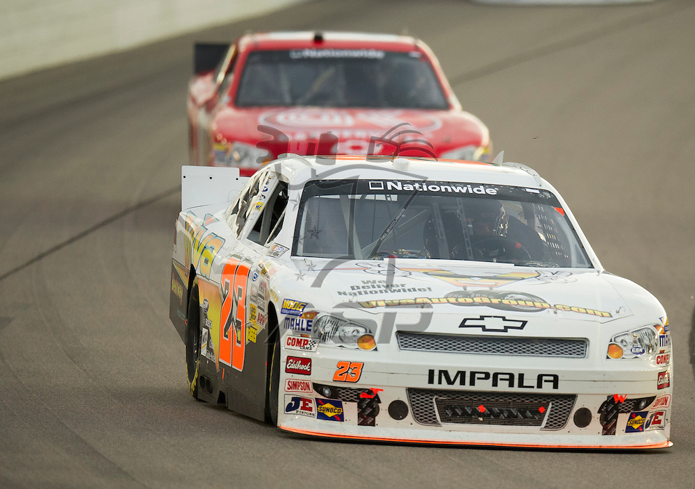 NEWTON, IA - July 04, 2012: Jamie Dick (23) during the U.S. Cellular 250 race at Iowa Speedway in Newton, IA.
