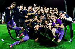 Players celebrate after winning the football match between NK Maribor and NK Celje in final of Slovenian Cup 2013 on May 29, 2013 in Stadium Bonifika, Koper, Slovenia. Maribor defeated Celje 1-0 and became Slovenian Cup Champion 2013. (Photo By Vid Ponikvar / Sportida)