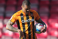 Hull City's Josh Magennis prepares to take a penalty<br /> <br /> Photographer Mick Walker/CameraSport<br /> <br /> The EFL League 1 - Crewe Alexandra v Hull City  - Friday 2nd April  2021 - Alexandra Stadium-Crewe<br /> <br /> World Copyright © 2020 CameraSport. All rights reserved. 43 Linden Ave. Countesthorpe. Leicester. England. LE8 5PG - Tel: +44 (0) 116 277 4147 - admin@camerasport.com - www.camerasport.com