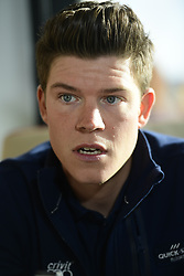 January 9, 2018 - Calpe, Espagne - CALPE, SPAIN - JANUARY 9 : JUNGELS Bob (LUX) Rider of Quick-Step Floors Cycling team talking to the press during a press conference part of the official team presentation of the Quick-Step Floors Pro cycling team 2018 at the Hotel Suitopia on January 09, 2018 in Calpe, Spain, 9/01/2018 (Credit Image: © Panoramic via ZUMA Press)