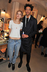 PHOEBE COLLINGS-JAMES and CHARLIE CASELY-HAYFORD at a party to celebrate the launch of the store & Other Stories, 256 Regent Street, London on 7th March 2013.