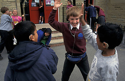 Hearing impaired child in integrated primary school Yorkshire UK
